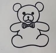 玩具小熊简笔画教程