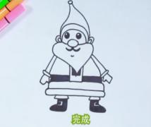 圣诞老人简笔画教程