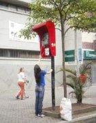 恶搞电话亭的图片