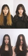 女生发型改变对比图