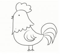 公鸡简笔画教程