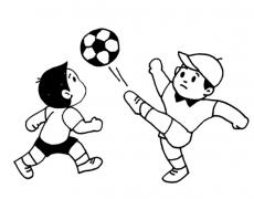 踢足球的简笔画