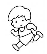 跑步的卡通人物简笔